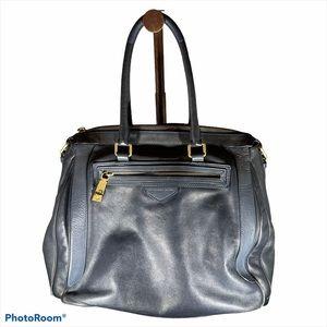 Marc Jacobs Navy Blue Leather Satchel Handbag
